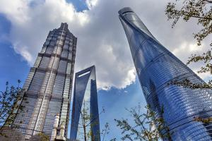 Liujiashui Financial District Shanghai China by William Perry