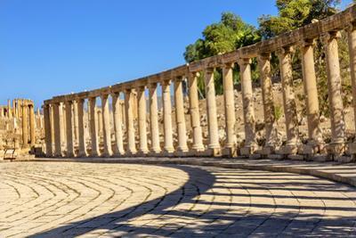Oval Plaza, 160 Ionic Columns, Jerash, Jordan. by William Perry