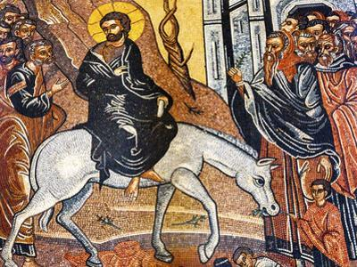 Palm Sunday Mosaic, Saint George's Greek Orthodox Church, Madaba, Jordan. by William Perry