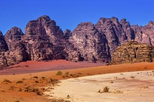 Sand Rock Formation, Wadi Rum, Valley of the Moon, Jordan. by William Perry
