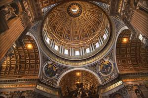 Vatican Inside Ceiling Michelangelo's Dome Overview by William Perry