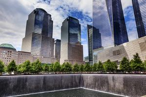 World Trade Center Memorial Pool Fountain, New York, Ny by William Perry