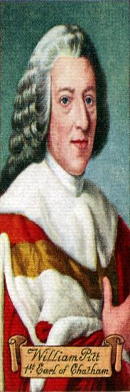 William Pitt, 1st Earl of Chatham, taken from a series of cigarette cards, 1935. Artist: Unknown-Unknown-Giclee Print