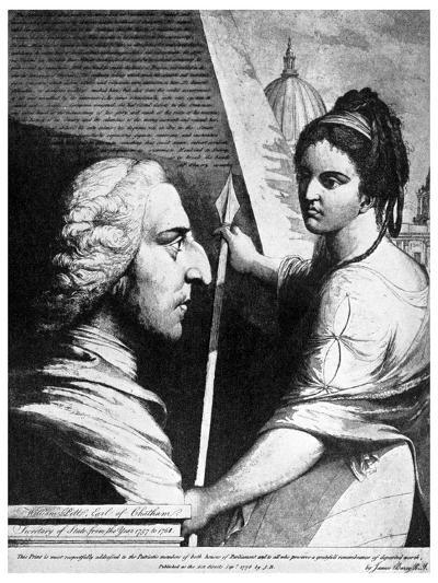 William Pitt, Earl of Chatham, British Politician, 18th Century-James Barry-Giclee Print