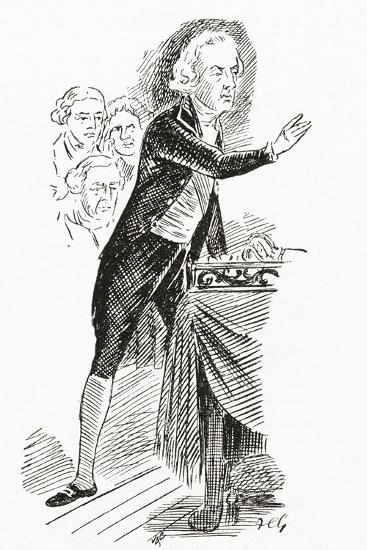 William Pitt the Younger Addressing the House of Commons, 1793--Giclee Print