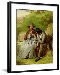 Lovers, 1855 (Oil on Board) by William Powell Frith