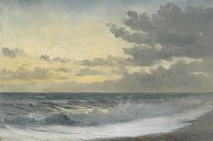 Twilight - Sad Melody (Oil on Board) by William Pye