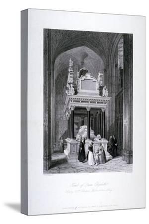 Queen Elizabeth I's Tomb, Henry VII Chapel, Westminster Abbey, London, C1840