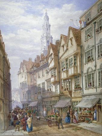Old Houses in Wych Street, Westminster, London, 1873