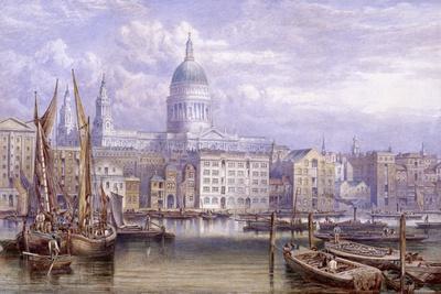 St Paul's from Bankside, London, 1883