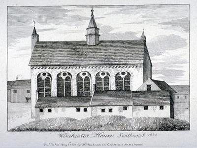 The Bishop of Winchester's Palace, Winchester House, Southwark, London, 1801