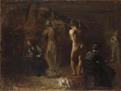 William Rush Carving His Allegorical Figure of the Schuylkill River, 1876-Thomas Cowperthwait Eakins-Giclee Print