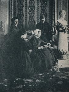 The Queen, with the Prince of Wales, the Princess Royal and the Princess Alice, in 1862, c1862, (1 by William Samuel Bambridge