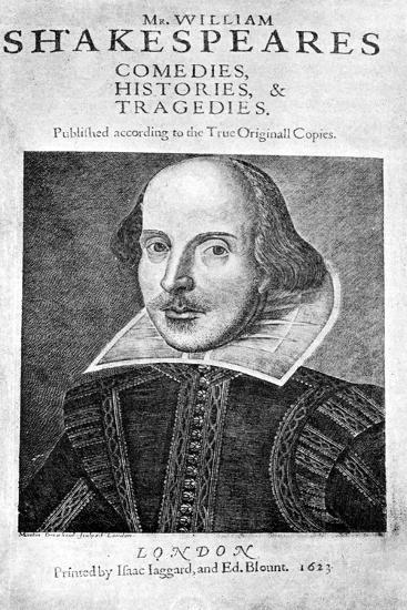 William Shakespeare, English Playwright, 1623-Martin Droeshout-Giclee Print