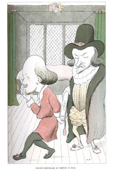 William Shakespeare, His Method of Work, 1904-Max Beerbohm-Giclee Print