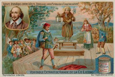 William Shakespeare in a Midsummer Night's Dream--Giclee Print