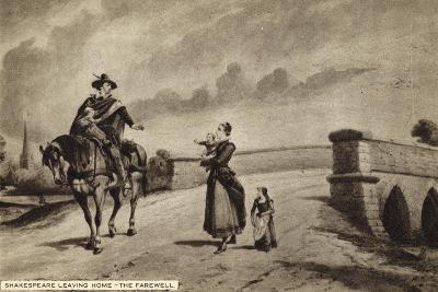 William Shakespeare Leaving Home, the Farewell--Giclee Print