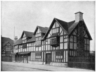 William Shakespeare's House, Stratford-Upon-Avon, Warwickshire, Late 19th Century-John L Stoddard-Giclee Print