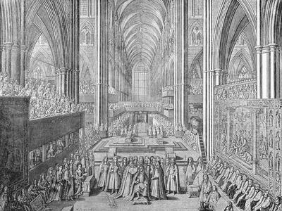 The Coronation of James II in Westminster Abbey, London, 1685 (1903)