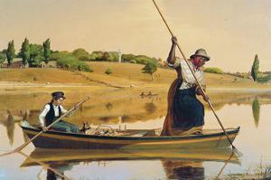 Eel Spearing at Setauket by William Sidney Mount
