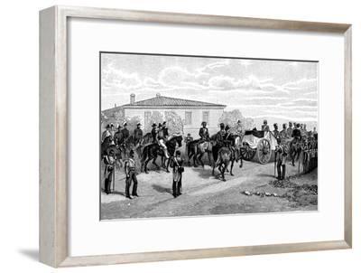 The Burial of Lord Raglan Near Sevastopol, Crimea, Russia, 1855