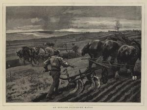 An English Ploughing Match by William Small