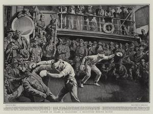 Sports on Board a Transport, a Blindfold Boxing Match by William Small