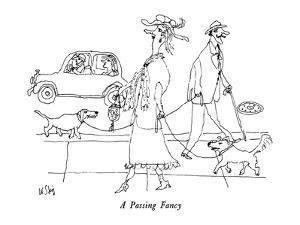 A Passing Fancy - New Yorker Cartoon by William Steig