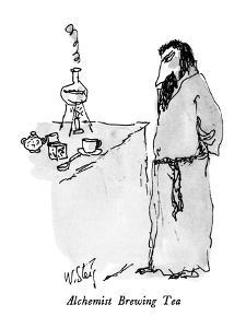 Alchemist Brewing Tea - New Yorker Cartoon by William Steig