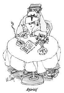 Apéritif - New Yorker Cartoon by William Steig