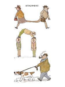 Attachments - New Yorker Cartoon by William Steig