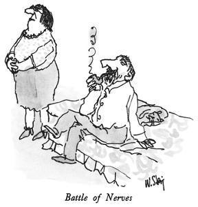 Battle of Nerves - New Yorker Cartoon by William Steig