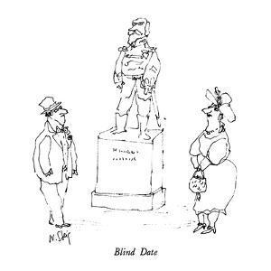 Blind Date - New Yorker Cartoon by William Steig