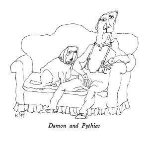 Damon and Pythias - New Yorker Cartoon by William Steig