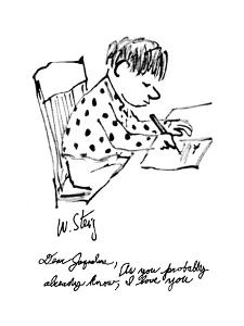 """Dear Jaqueline, As you probably already know, I love you"" - New Yorker Cartoon by William Steig"