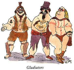 Gladiators - New Yorker Cartoon by William Steig