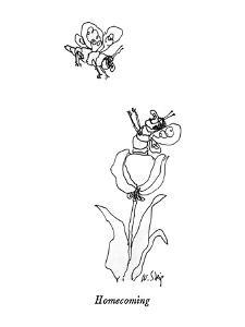 Homecoming - New Yorker Cartoon by William Steig