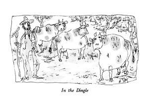 In the Dingle - New Yorker Cartoon by William Steig