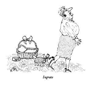 Ingrate - New Yorker Cartoon by William Steig