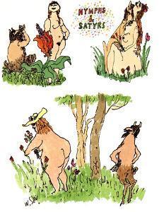 Nymphs & Satyrs - New Yorker Cartoon by William Steig