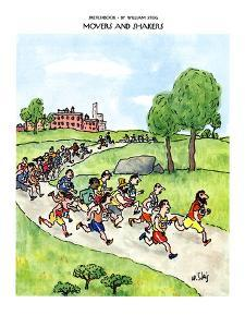 SKETCHBOOK-MOVERS AND SHAKERS - New Yorker Cartoon by William Steig