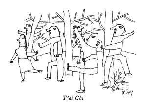 T'ai Chi - New Yorker Cartoon by William Steig