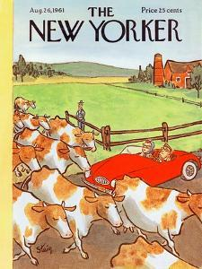 The New Yorker Cover - August 26, 1961 by William Steig