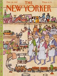The New Yorker Cover - December 14, 1987 by William Steig