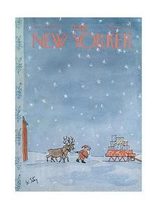 The New Yorker Cover - December 24, 1966 by William Steig