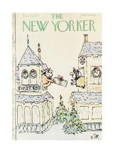 The New Yorker Cover - December 26, 1977 by William Steig