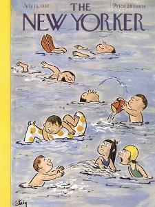 The New Yorker Cover - July 13, 1957 by William Steig