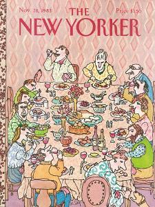 The New Yorker Cover - November 28, 1983 by William Steig