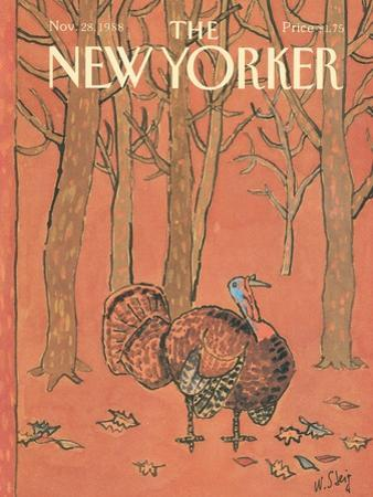 The New Yorker Cover - November 28, 1988 by William Steig