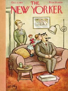 The New Yorker Cover - October 12, 1935 by William Steig